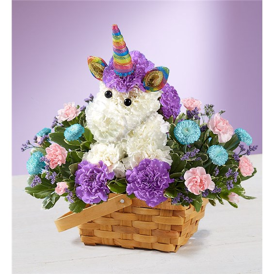 enchanting unicorn flower foam design